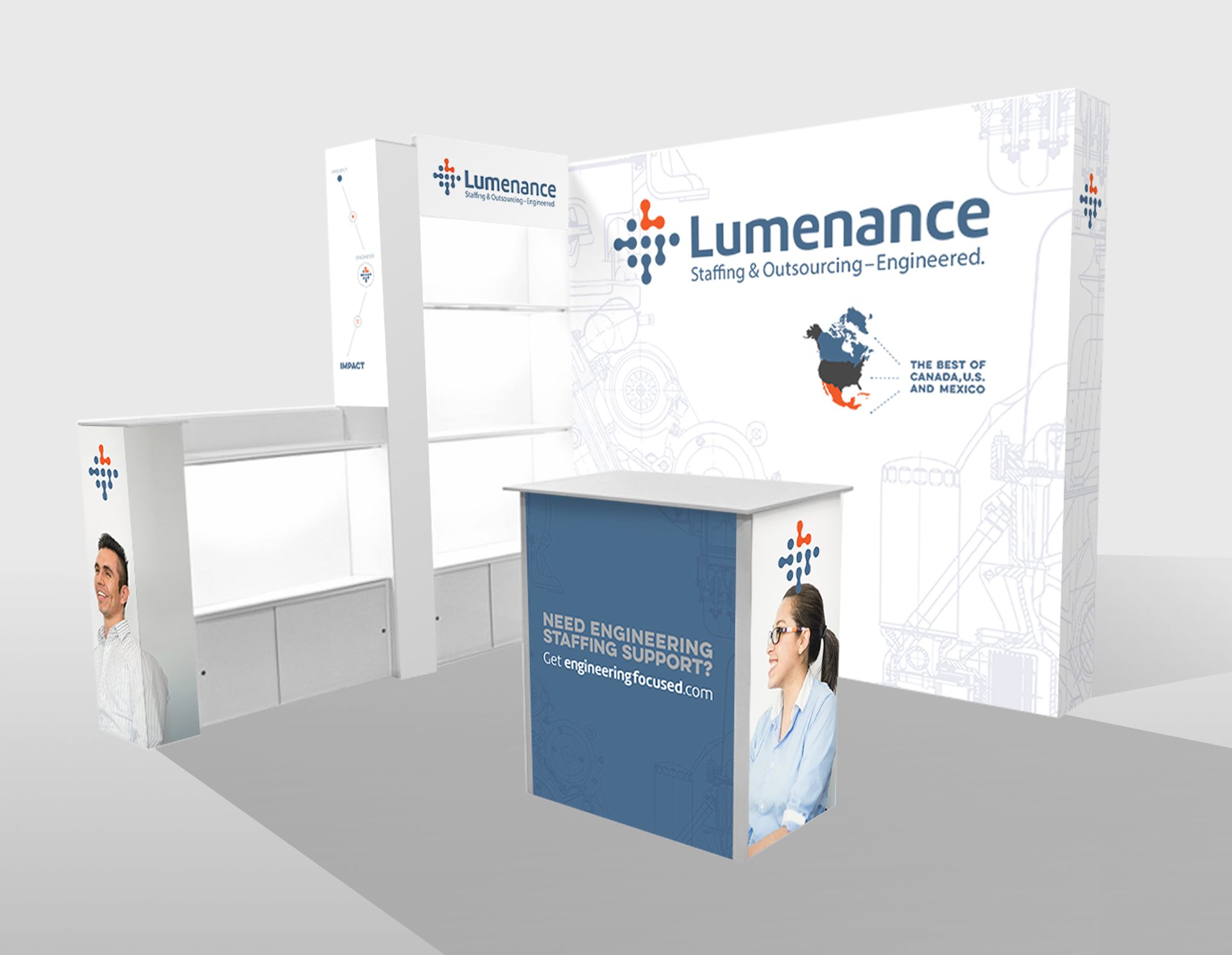 Lumenance Tradeshow Graphic Design